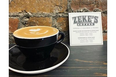 A cup of Zeke's Coffee