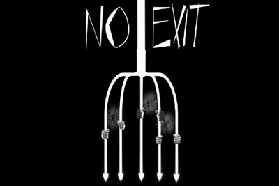 No Exit  theatre production logo