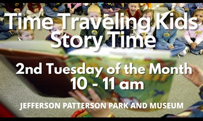 Time Traveling Kids Story Time poster