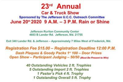 flyer for the 23rd annual car & truck show