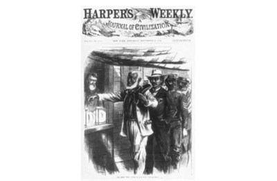Harper's Weekly Cover Showing People Voting