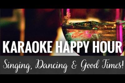 Karaoke Happy Hour poster