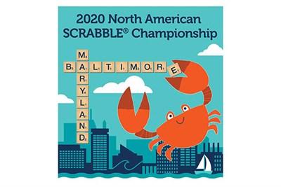 2020 North American Scrabble Championship Logo with Crab