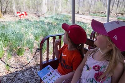 Kids On-Board the Eye Spy Train