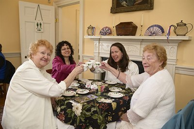 Ladies enjoying tea at Historic Montpelier