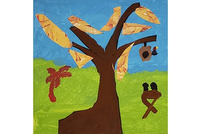 Trees of Life - A Life Well Lived, created by No Boundaries students.