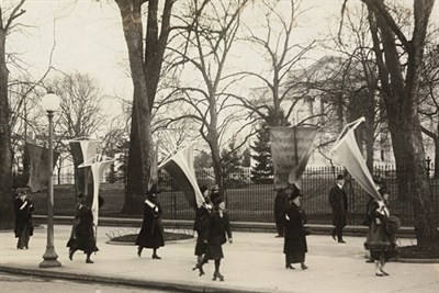 Women campaigning for the vote
