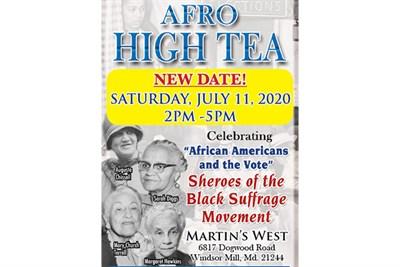 Afro High Tea poster