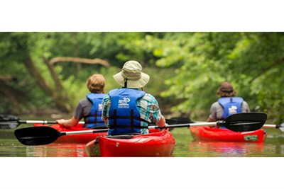 Kayak down the Antietam Creek on this guided tour.