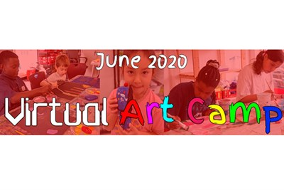 Virtual Art Camp poster