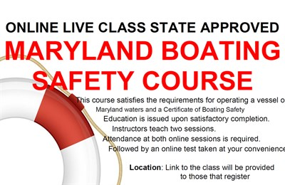 Maryland Boating Safety Course flyer
