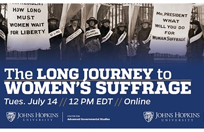 The Long Journey to Women's Suffrage poster