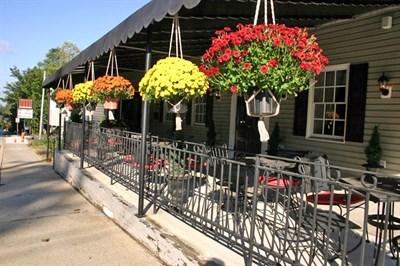 Porch of Matthew's 1600 Restaurant.
