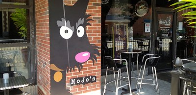 photo of restaurant's dog mural