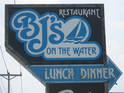 BJ's on the Water signage