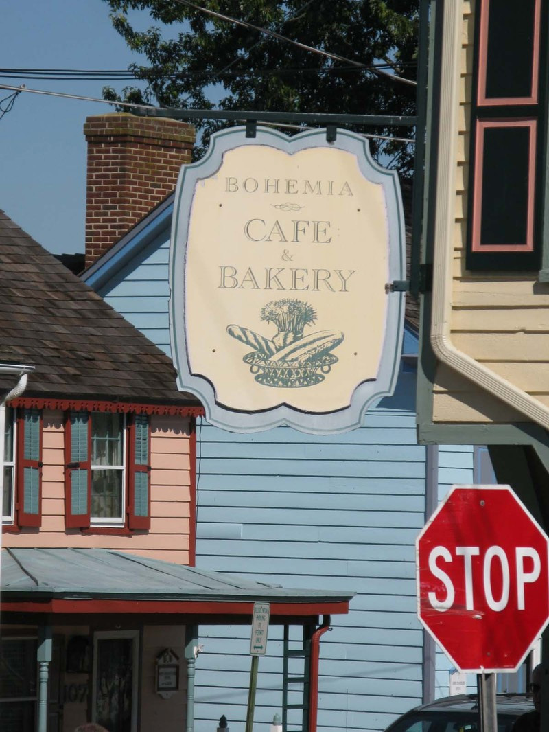 Bohemia Cafe and Bakery Signage