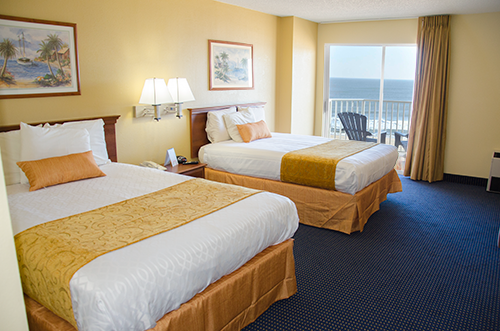 Crystal Beach Oceanfront Hotel guest room