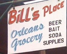 Bill's Place signage