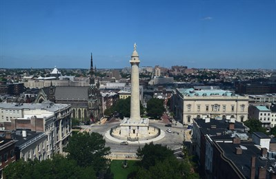 Washington Monument and Mount Vernon Place