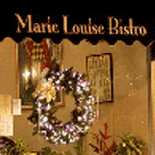 Marie Louise Bistro interior view signage