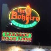 Bonfire Restaurant signage