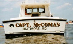 Capt. McComas on the water