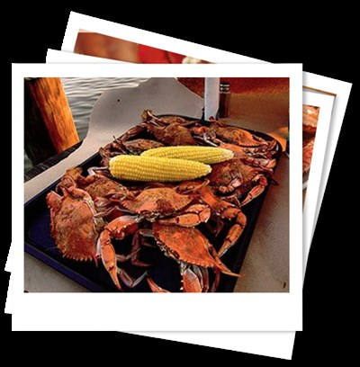 Sue Island Dock Bar crabs