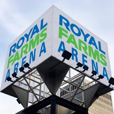 Royal Farms Arena logo.
