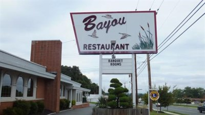 The Bayou signage