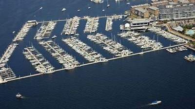 Aerial View of Lighthouse Point, Baltimore Marine Centers.