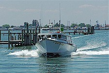 The Bay Eagle Charter Boat on the Chesapeake Bay.
