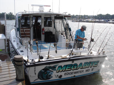 Megabite Charters preparing for a trip.