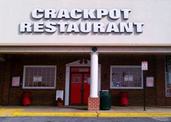 The Crackpot Restaurant front door.