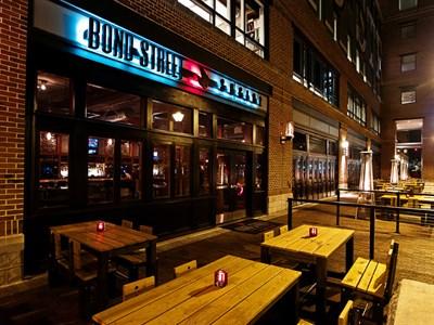 Bond Street Social Exterior at Night.