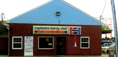 Captain's Carry-Out, exterior
