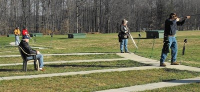 Trapshooting at the Carroll County Gun Club.
