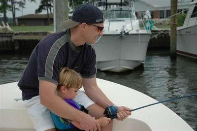 CD Outdoors introduces fishing to a young angler.
