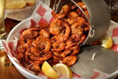 Shrimp served at Bubba Gump Shrimp Co.