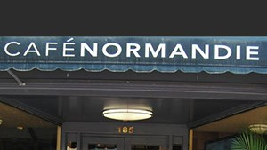 Facade of Cafe Normandie exterior