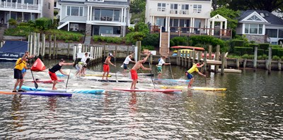 Lesson in Stand Up Paddleboarding (SUP).