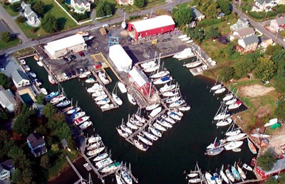 Overhead view of Hinckley Yacht Services.
