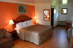 Renovated rooms and convenient location at the Crisfield Budget Motel.