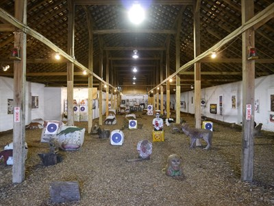 Indoor range at Deer Creek Archery.