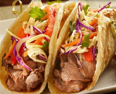 photo of steak tacos
