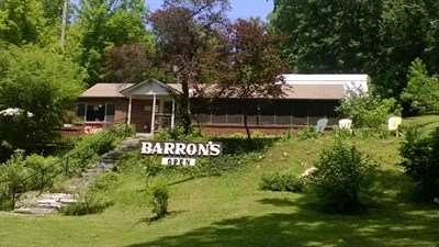 Barron's sits along the C and O Canal and invites hikers and bikers inside.