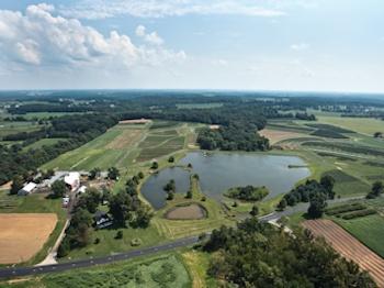 Larriland Farm aerial view.