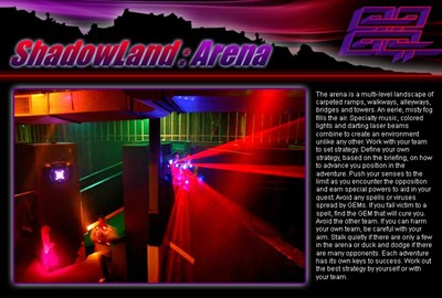Shadowland Laser Adventures-arena