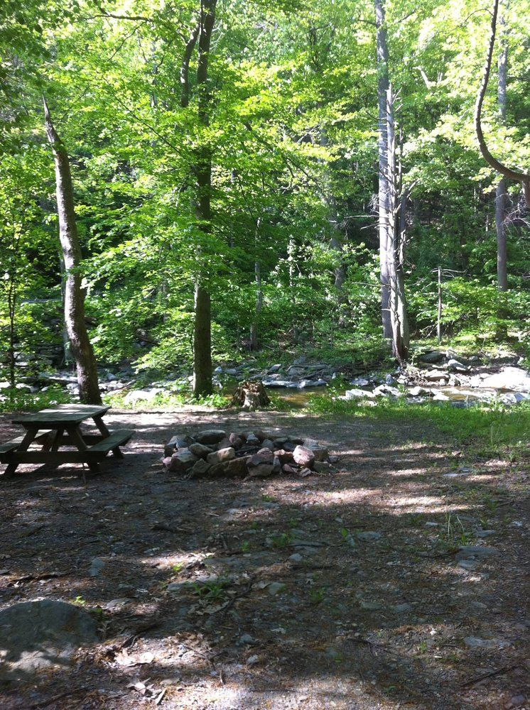 Camping area at Crow's Nest Campground