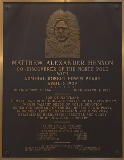 Matthew Henson Plaque