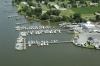 Aerial view of Island View Marina